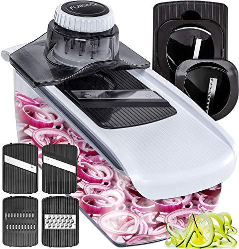 Potato Slicer Zoodle Maker Veggie Spiralizer - Fullstar Mandoline Slicer Spiralizer Vegetable Slicer - Slicers for Fruits and Vegetables Onion Slicer Bpa-Free - Food Slicer 6-in-1 Vegetable Spiralizer