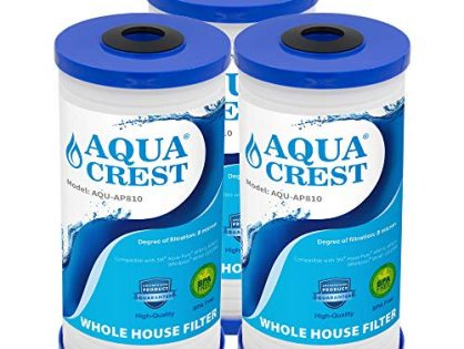 AQUACREST AP810 Whole House Water Filter, Compatible with 3M Aqua-Pure AP810, AP801, Whirlpool WHKF-GD25BB, 5 Micron Pack of 3