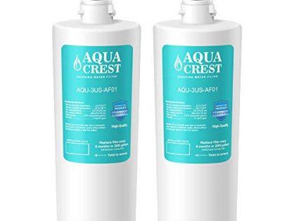 AQUACREST 3US-AF01 Under Sink Water Filter, Compatible with Standard Filtrete 3US-AF01, 3US-AS01 Water Filter Pack of 2