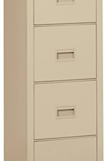"""FireKing 4R1822-CPA Turtle Fireproof File Cabinet, 52.75"""" H x 17.75"""" W x 22.13"""" D, Parchment"""