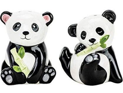 Boston Warehouse 24710 Bamboo Panda Salt & Pepper Shaker Set