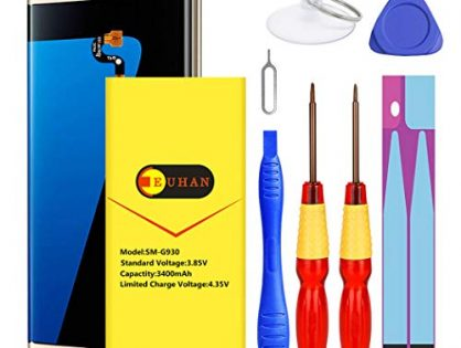 Upgraded Galaxy S7 Edge Battery, Euhan 3900mAh Lithium Polymern Internal Battery Replacement for Samsung Galaxy S7 Edge EB-BG935ABE G935V G935P G935A G935F G935T with Repair Replacement Tools