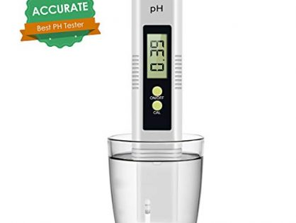 Digital PH Meter, PH Meter 0.01 PH High Accuracy Water Quality Tester with 0-14 PH Measurement Range for Household Drinking, Pool and Aquarium Water PH Tester Design with ATCNewOrange