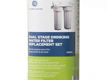 GE FXSVC Dual Stage Drinking Water Filtration System Replacement Filter VOC