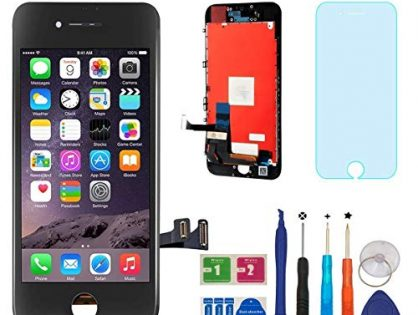 Repair-Screen Screen Replacement for iPhone 7 LCD Touch Screen Digitizer Frame Assembly Full Set with 3D Touch with Repair Tools and Screen ProtectorBlack-4.7 inch
