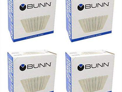 Bunn BCF100 BCF100-B 100-Count Basket Filter Pack of 4,White, 4,