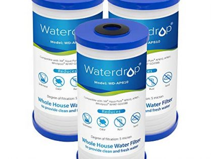 Waterdrop AP810 Whole House Water Filter, Compatible with 3M Aqua-Pure AP810, AP801, AP811, Whirlpool WHKF-GD25BB, 5 Micron Pack of 3