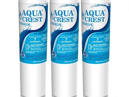 AQUA CREST NSF 53&42 GXRLQR Inline Water Filter, Compatible with GE SmartWater Twist and Lock in-Line GXRLQR Water Filter Pack of 3