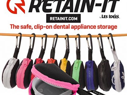 Retain-it - The Safe, Clip-on, Retainer, Mouth Guard and Dental Appliance Storage Solution! Pink