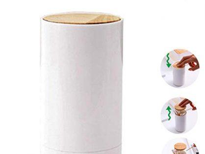 BUSOHA Automatic Pop-up Toothpicks holder Cotton swab holder Q-Tips Organizer Portable Toothpicks dispenser 2 Packs