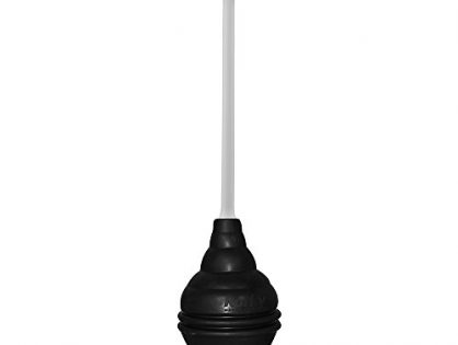 Korky 99-4A 99-1AM Beehive Max Universal Fits All Old and New Powerful Plunge-Easy Grip T-Handle-Made in USA Toilet Plunger, Black