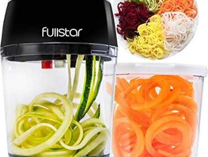 Zucchini Noodle Maker Zucchini Spiralizer with Bonus Container - Veggie Spiralizer Adjustable Handheld Spiralizer - Vegetable Spiralizer Vegetable Slicer - 3 in 1 Zucchini Spaghetti Maker Zoodle Maker