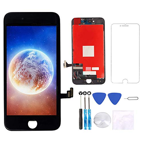 """Screen Replacement for iPhone 8 Screen Black 4.7"""" LCD 3D Touch Screen Digitizer Replacement Frame Display Assembly Set with Screen Protector and Repair Tools for iPhone 8 Screen Replacement Black"""