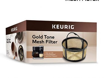 Keurig Reusable Mesh Ground Coffee Filter Compatible Essentials and K-Duo Brewers only, Handwash Only Only, Gold