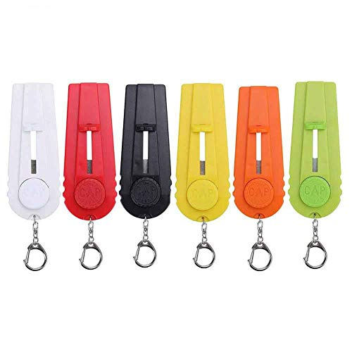 Feihoudei 6 Pack Cap Beer Bottle Opener Cap Launcher Shoots with Key Ring, Assorted Colors