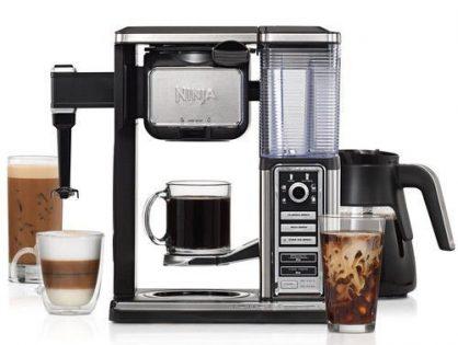 Ninja CF091 Coffee Bar, Black/Silver Renewed