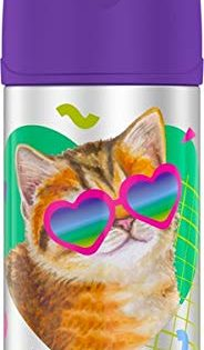 Thermos Funtainer 12 Ounce Bottle, Cat with Sunglasses