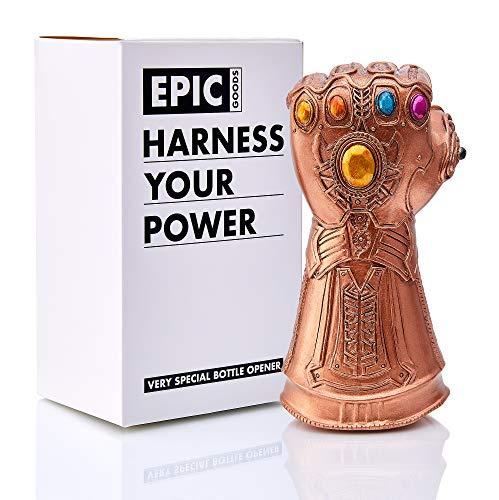 Whatever It Takes, Cool Novelty Gift for Marvel Avengers Fans Bottle Opener - Thanos Infinity Gauntlet Style Beer Bottle Opener