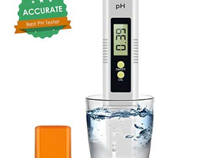 Digital PH Meter, 0.01 PH High Accuracy Pocket Size PH Meter/PH Tester with 0-14.0 Measuring Range, Water Quality Tester for Household Drinking Water, Swimming Pools, Aquarium