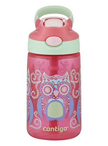 Contigo AUTOSPOUT Straw Gizmo Flip Kids Water Bottle, 14 oz, Sprinkles with Owl Parliament 2004943