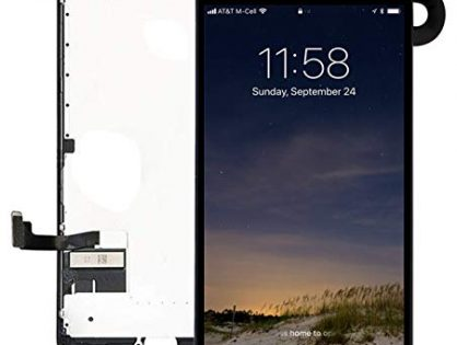 Pre-Assembled Screen Replacement for iPhone 7 Black, LCD Display and Touch Screen Digitizer Replacement for A1660, A1779, A1778 w/Facing Proximity Sensor, Ear Speaker, Front Camera and Repair Tools