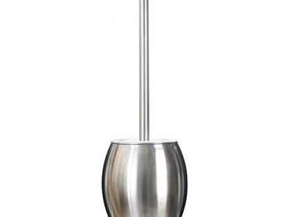 Yuoko Compact Stainless Steel Toilet Brush and Holder Set