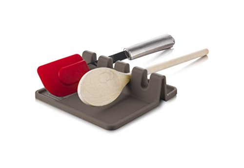 Tomorrow's Kitchen Silicone Utensil Rest, Grey