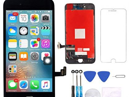 Screen Replacement Compatible with iPhone 7 Plus Screen Replacement Black LCD Display Digitizer Assembly Replacement with Screen Protector and Repair Tools kit for iPhone 7 Plus Screen Black