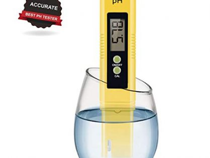 Digital PH Meter, PH Meter 0.01 PH High Accuracy Water Quality Tester with 0-14 PH Measurement Range for Household Drinking, Pool and Aquarium Water PH Tester Design with ATC 2019-Yellow