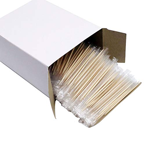 Aifactory 1000 Pcs Excelife Ornate Wooden Toothpicks | Perfect for Everyday Use - Personal Hygiene, Cocktail Sticks or Arts & Crafts