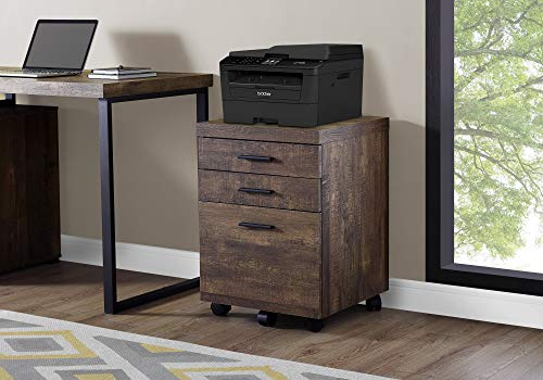 Monarch Specialties 3 Drawer File Cabinet - Filing Cabinet Brown