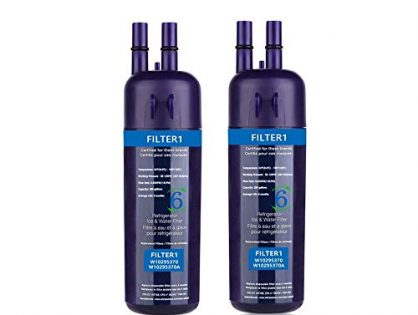 WRFILTER1 2,PCS,Refrigerator Water Filter 1 Cap Compatible W10295370A W10295370 Water Filter PurplePackaging May Vary