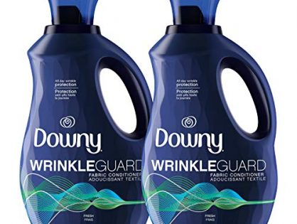 Downy Wrinkleguard Liquid Fabric Softener and Conditioner, Fresh Scent, 2 Pack of 48 fl oz. Wrinkle Guard Bottles