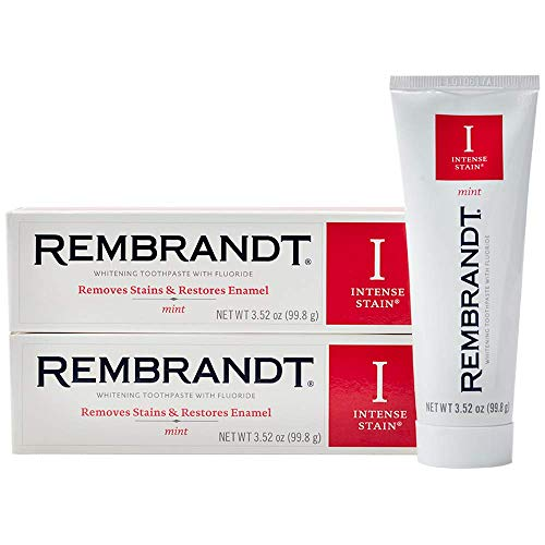 Rembrandt Intense Stain Whitening Toothpaste, Mint Flavor, 3.52-Ounce 2 Pack