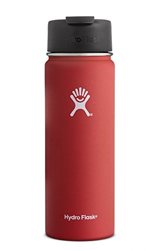 Hydro Flask 20 oz Travel Coffee Flask - Wide Mouth with Hydro Flip Cap - Lava - Stainless Steel & Vacuum Insulated