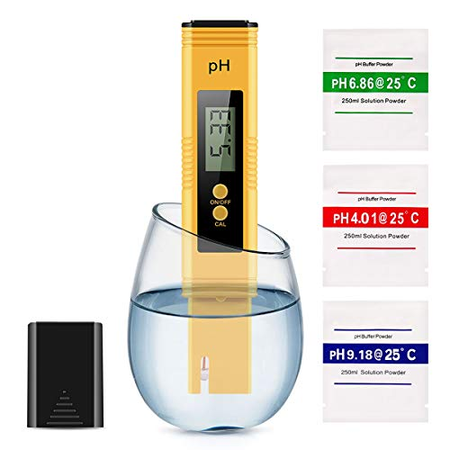 Pop V Digital, 0.01 High Accuracy Pocket Size Meter/PH 0-14.0 Measuring Range, Quality Tester for Household Drinking Water, Swimming Pools, Aquariums, YELLOW