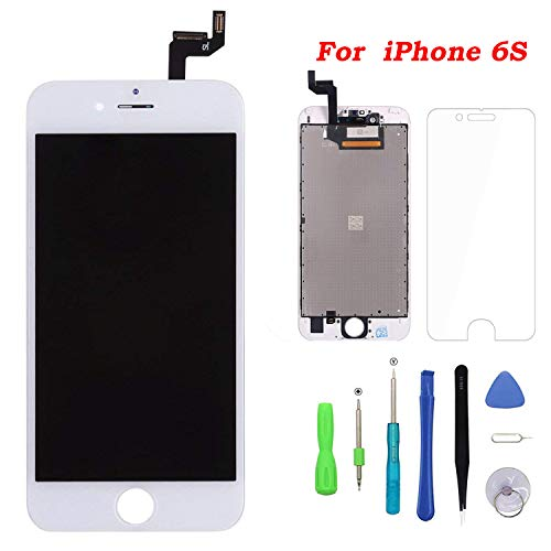 Screen Replacement for iPhone 6s White Touch Screen Digitizer LCD Display Replacement Full Assembly with Repair Tool Kit 6s.White
