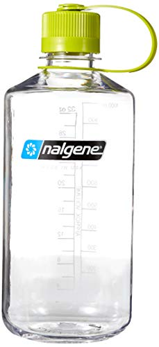 Nalgene Tritan 32-Ounce Narrow Mouth BPA-Free Water Bottle, Clear