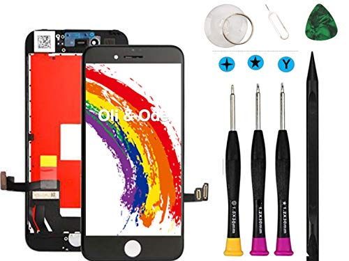 Oli & Ode Compatible with iPhone 8 Plus Screen Replacement Black LCD Digitizer Touch Screen Assembly Set with 3D Touch Manual Included Model No. A1864/A1897/A1898 Black, 5.5 Plus