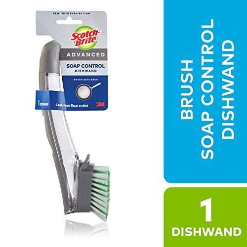 Scotch-Brite Advanced Soap Control Dishwand Brush, Leak-Free Guarantee