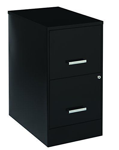 "Office Dimensions 20226 22"" Deep 2 Drawer Metal SOHO Vertical File Cabinet, Inch, Black"