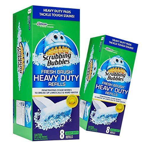 2 Pack Scrubbing Bubbles, Fresh Brush HEAVY DUTY Refills, 8 ct. ea.