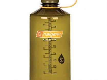 Nalgene Tritan 32 oz Narrow Mouth BPA-Free Water Bottle, Olive