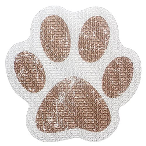 """SlipRx USA Nonslip Bathtub Stickers Safety Adhesive Paw Print Treads 