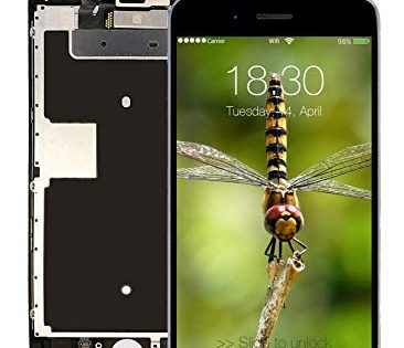 Pre-Assembled Screen Replacement for iPhone 6s Black, LCD Display and Touch Screen Digitizer Replacement for A1633, A1688, A1700 w/Facing Proximity Sensor, Ear Speaker, Front Camera and Repair Tools