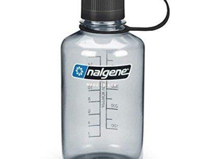 NALGENE 2078-2030 Tritan 1-Pint Narrow Mouth BPA-Free Water Bottle,Gray,1 Pint