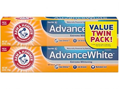 Arm & Hammer Advance White Extreme Whitening Toothpaste, 6 oz Twin Pack Packaging May Vary