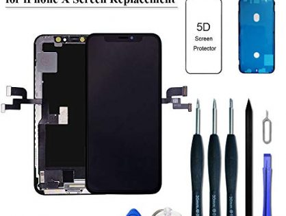 VANYUST for iPhone X Screen Replacement, Upgrade Display OLED Touch Screen Digitizer Assembly with Waterproof Frame Adhesive Sticker for iPhone X 5.8 inchUpdated Version