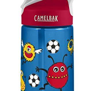 CamelBak Eddy Kids .4L Water Bottle, Soccer Monsters.4L