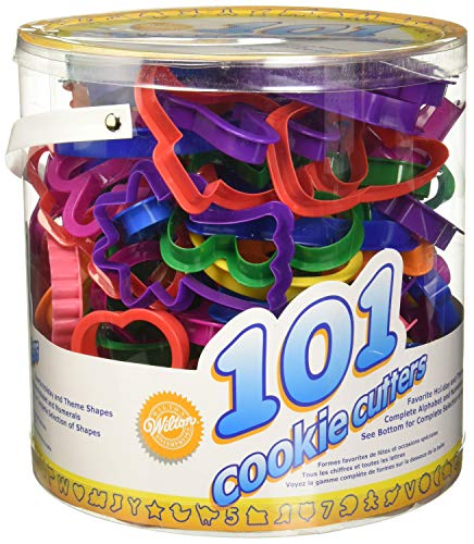 Alphabet, Numbers and Holiday Cookie Cutters - Wilton Cookie Cutters Set, 101-Piece